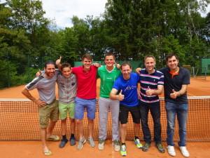 v.l.: Moreno Gutierrez, Jan Krautter, Florian Wuttke, Nicolas Wuttke, MF Markus Altmeyer, Andreas Velten, Dirk Boos