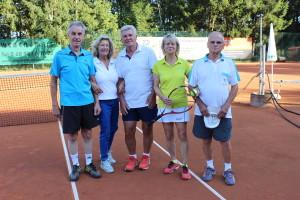Die Mannschaft des Saarlandes: v. l. n. r.: Rainer Duus, Sunhilde Pasquay, Rene Ehl, Rosy Ludwig, Peter Klee