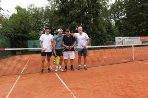 v.l.: 2. Peter Andreis / Gianis Raubuch; 1. Bernhard Raubuch / Rudi Sapich;