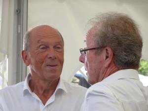 STB-Präsident Dr. Joachim Meier im Gespräch mit Karlheinz Balzert